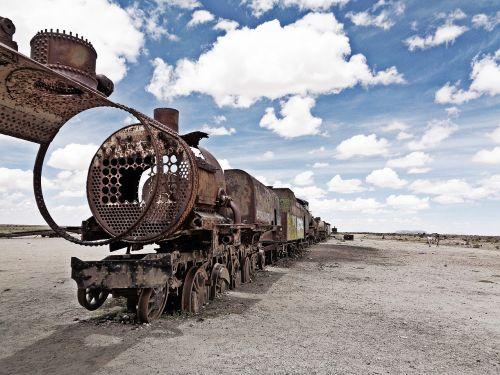 traukinių kapinės,uyuni,salar de uyuni,Bolivija