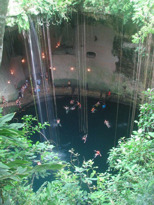 cenote,urvas,yukatanas,Meksika,maudytis,Rokas,urvas,natūralus,skylė,šviežias,baseinas,po žeme,geologija,plaukti,giliai,geologinis,įgriuva,Kelionės tikslas,kelionė,geologinis