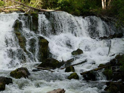 centennial falls rushing water