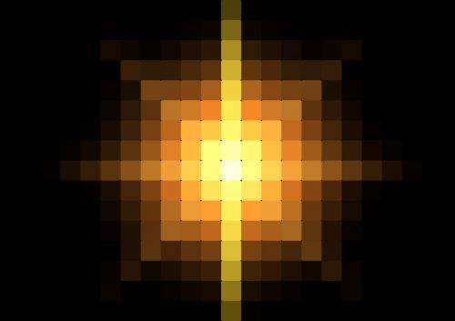 center pixel light