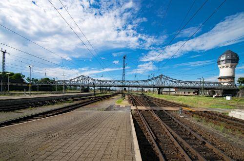 central station dornheim bridge darmstadt
