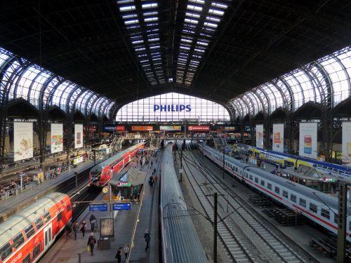 central station hamburg rail traffic