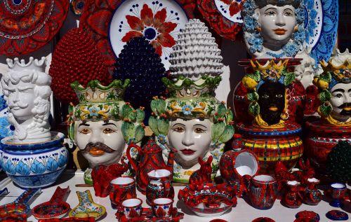 ceramic sicily colorful