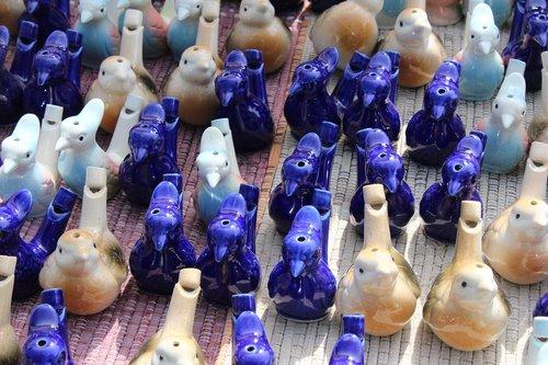 ceramic  birds  whistling