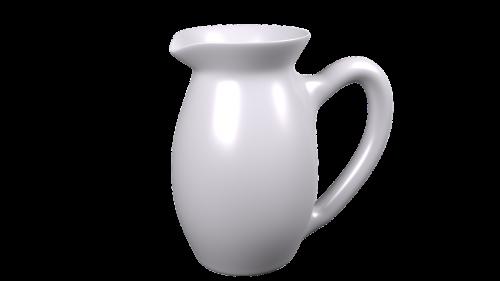 ceramic jug water jug white jug