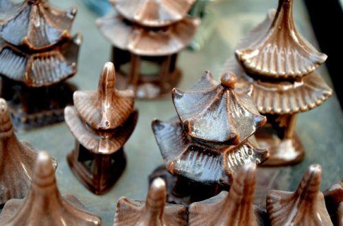 Ceramic Pagoda Rooftops