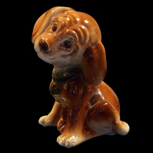ceramic puppy  figurine  porcelain