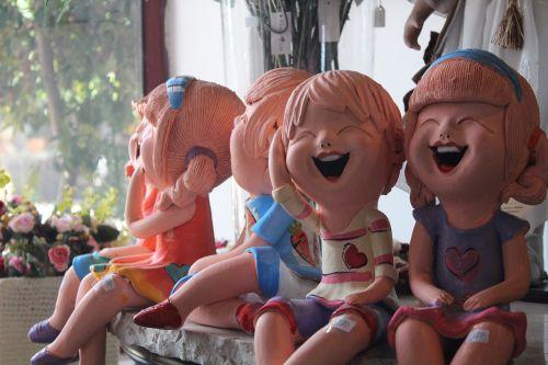 children laughing ceramics art