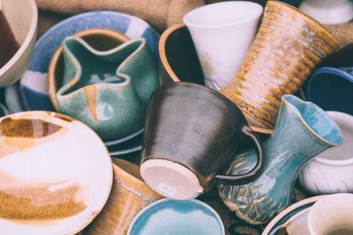 ceramics close-up cups