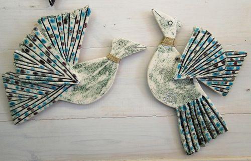 ceramics wall birds