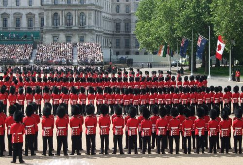 ceremony military parade trooping the colour