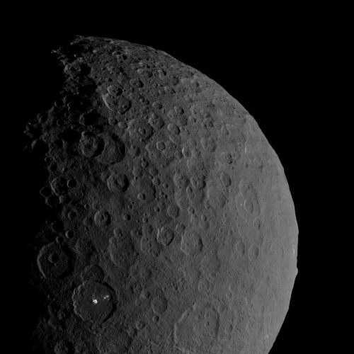 ceres asteroid space crater