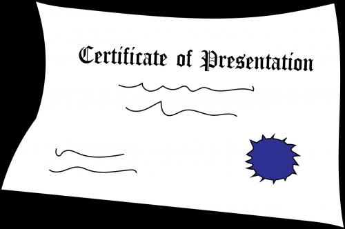 certificate presentation award
