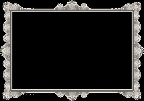 certificate border blank