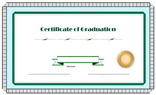 certificate graduation filmstrip