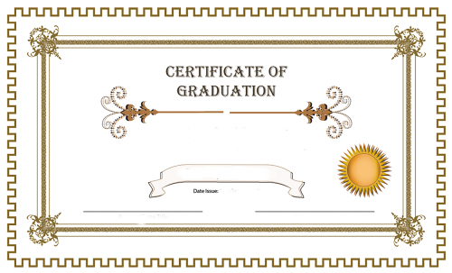 certificate graduation greek