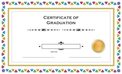 certificate graduation gems