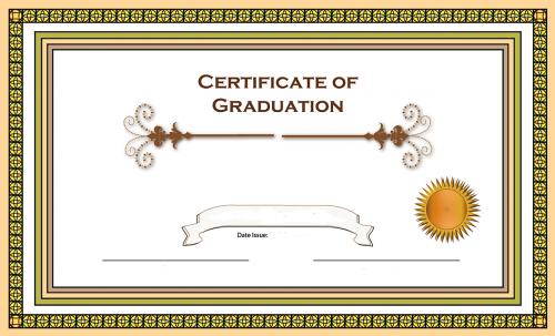 certificate graduation border