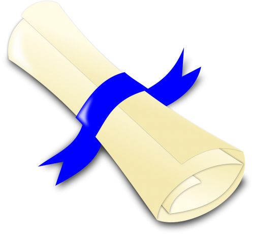 certificate ribbon diploma