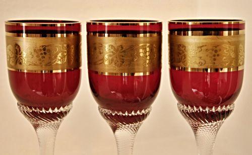 akiniai, raudona, papuoštas & nbsp, auksu, auksas, stiklas, raudonas stiklas, papuoštas auksu