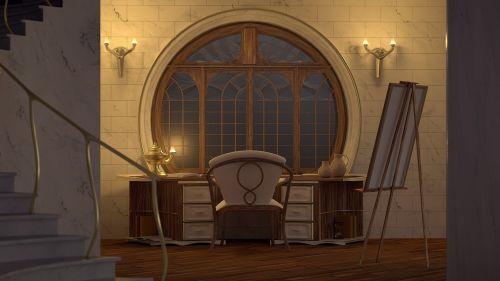 cgi the interior of the art nouveau