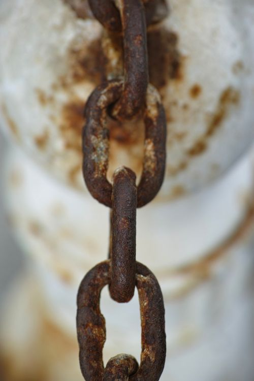 chain rusty detail