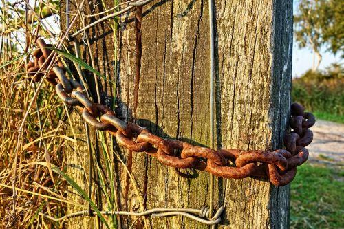 chain links steel