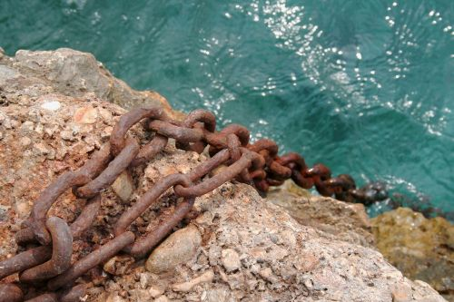 chain old rusted anchor chain