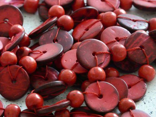 chain beads wood beads