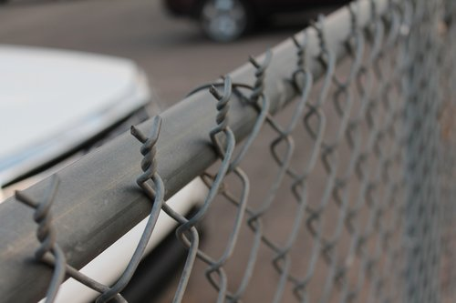 chain link  fence  sharp