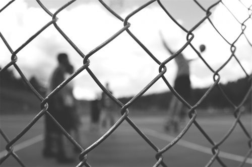 chainlink fence basketball