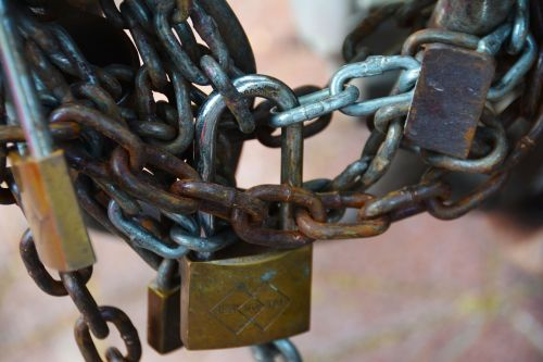 chains lock shackle