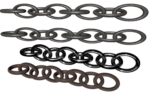 chains isolated rusty
