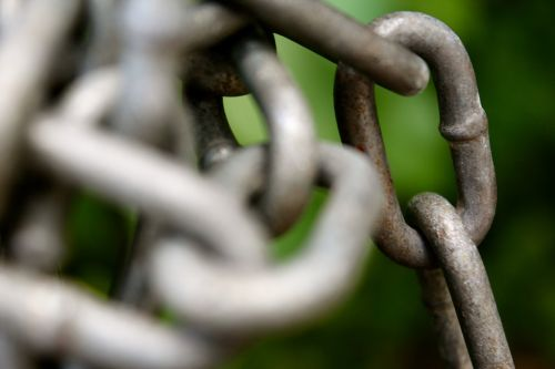 chains locked metal