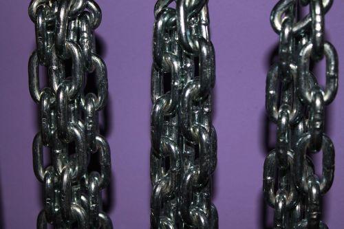 chains purple metal