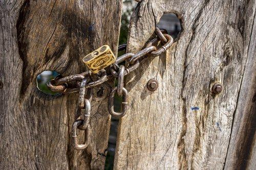 chains  doors  old doors