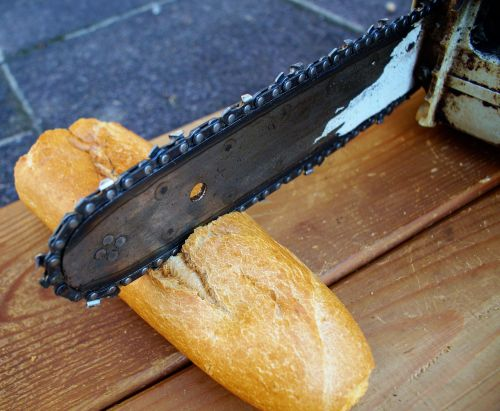 chainsaw wood baguette