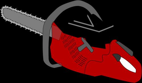 chainsaw saw cut
