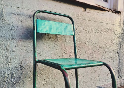 chair metal furniture