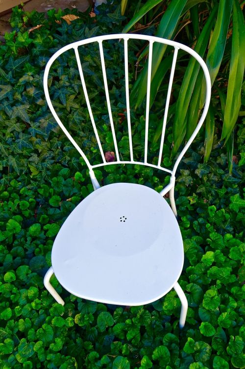 chair white garden