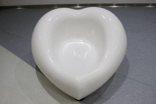 kėdė,širdis,balta,mielas,Japonija,visiškai baltas,baltas fonas