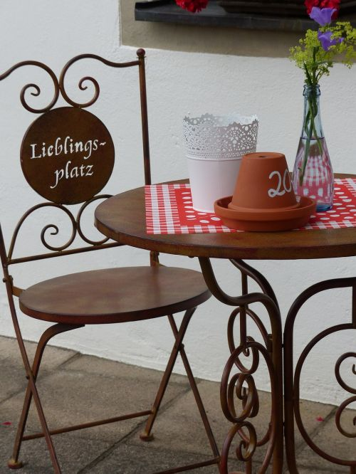 chair metal table upper franconia