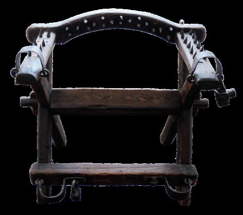 chair torture chair oak