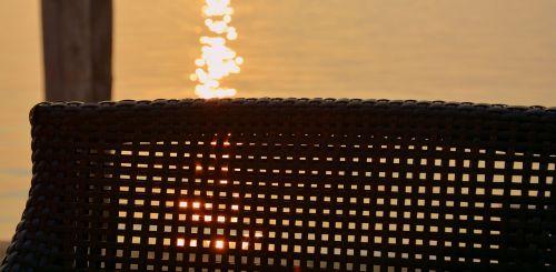 chair sunset mooring