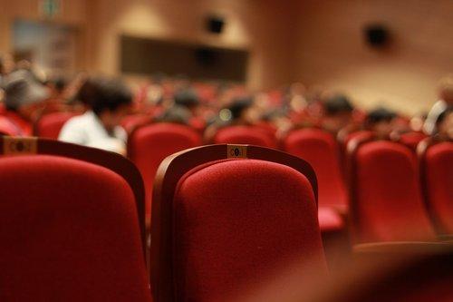 chair  auditorium  onlookers