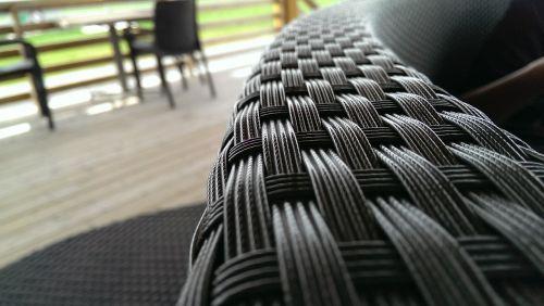 chair braided black