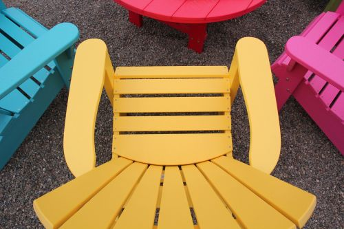 chair lawn furniture colorful