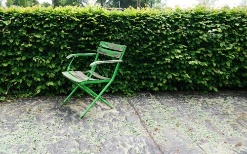 chair garden green