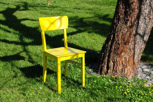 chair yellow nature