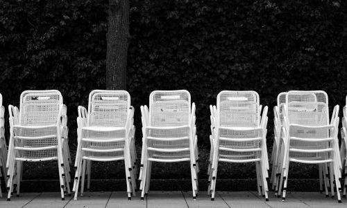 chair series metal chairs monochrome
